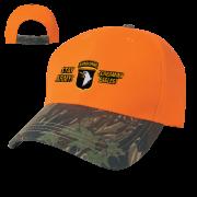 Camo Top Orange Bill 2 Tone Cap