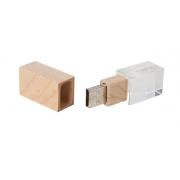 Clé USB Bois Cristal Publicitaire  8 Go